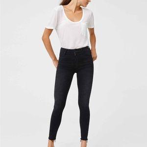 MOTHER Denim High Waisted Looker Jeans | Blackbird